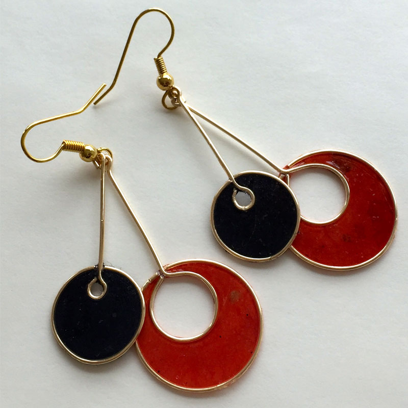 Mango Paper Earrings