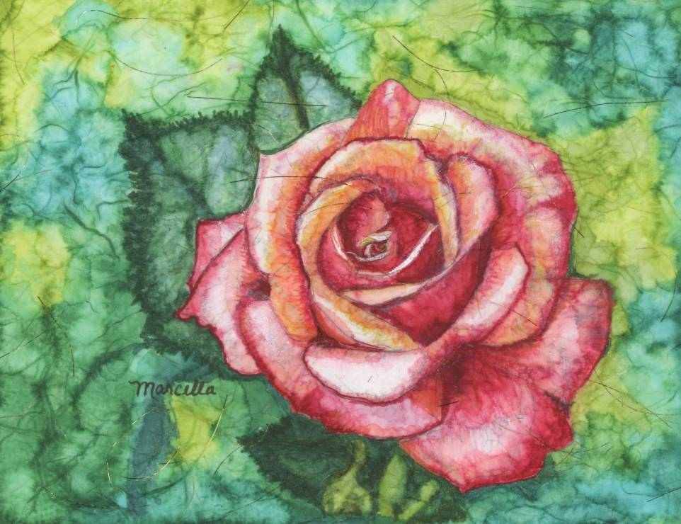 Alcohol Ink Rose