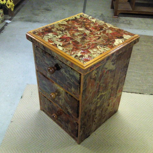Dresser Re-Finished with Marbled Momi Paper