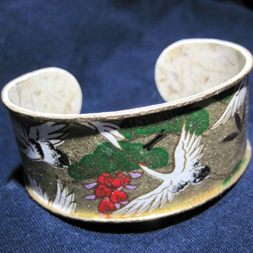 Bracelet Crafted with Japanese Chiyogami Paper