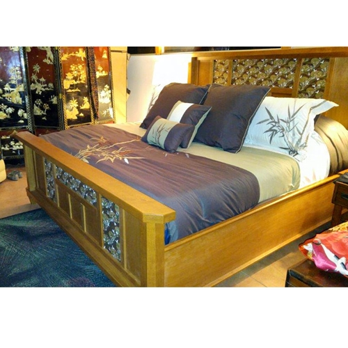 Custom Designed Headboard and Footboard using Chiyogami Paper