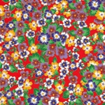Japanese Chiyogami Yuzen Paper - Colorful Flowers