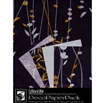 BLACK MEADOW FLOWERS DecoPaper Pack
