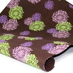 Indian Cotton Rag Paper - PASSION FLOWER - CHOCOLATE BROWN