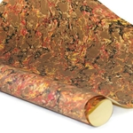 French Marble Paper - BROWN RED AND GOLD
