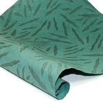 Embossed Nepalese Lokta Paper - CAT-SCRATCH- TEAL