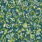 Blue/Green Paisley Patterned Japanese Chiyogami Yuzen Paper