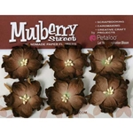 Mulberry Paper Flowers - Wild Roses - DARK BROWN