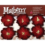 Mulberry Paper Flowers - Wild Roses - RED