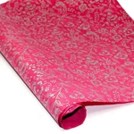 Nepalese Lokta Paper - Floral SILVER ON MAGENTA