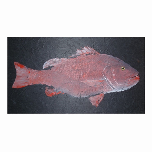 Fish Print on Unryu