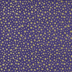 Purple and Gold Patterned Japanese Chiyogami Yuzen Paper