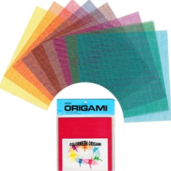 Color Mesh Rayon Origami Sheets 5 7/8""