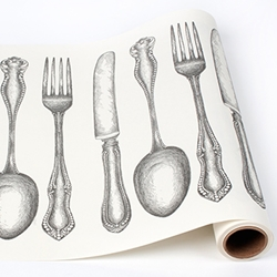 CUTLERY runners on Paper 30 → disposable table  Home Rolls  Roll Runner roll →  Paper Table   KRAFT