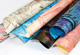 Hand-Made Marbled Paper
