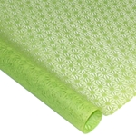 Japanese Washi Tissue - Hemp Flower - LIME GREEN