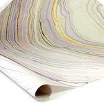 Thai Marbled Paper - PURPLE/YELLOW/LILAC