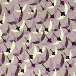 "Chiyogami Yuzen Origami Paper Pack 6"" x 6"" Sheets (4 Pack) - PURPLE CRANE"