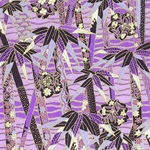 "Chiyogami Yuzen Origami Paper Pack 6"" x 6"" Sheets (4 Pack) - VIOLET BAMBOO STALKS"