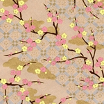 "Chiyogami Yuzen Origami Paper Pack 6"" x 6"" Sheets (4 Pack) - GENTLE BLOSSOM"
