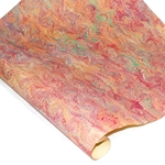 Italian Marble Paper - Spiral RED/ORANGE