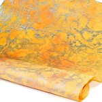 Marbled Momi Paper -  PEACH/YELLOW/SILVER