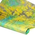 Marbled Momi Paper -  LIME/TURQUOISE/SILVER