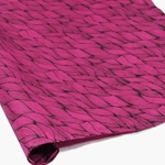 Silkscreened Nepalese Lokta Paper- WAVE- Black on Pink