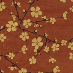 Lokta Paper Origami Pack - Blossom - GOLD ON BROWN