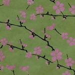 Lokta Paper Origami Pack - Blossom - PINK ON GREEN