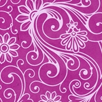 Lokta Paper Origami Pack - Swirls - WHITE ON PINK
