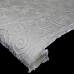Thai Heavy Embossed Mulberry Paper - CURLY SWIRLY