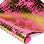 Metallic Foil Indian Cotton Rag Paper - PINK/GOLD