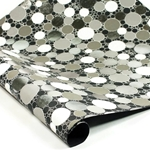 Metallic Foil Indian Cotton Rag Paper - CIRCLES - BLACK/SILVER