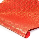 Metallic Foil Indian Cotton Rag Paper - VICTORIAN - RED/GOLD