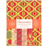 Handmade Indian Cotton Paper Pack - SCREENPRINTED - ORANGE