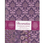 Handmade Indian Cotton Paper Pack - SCREENPRINTED - PURPLE