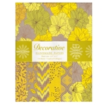Handmade Indian Cotton Paper Pack - SCREENPRINTED - YELLOW