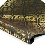 Metallic Foil Indian Cotton Rag Paper - VICTORIAN - BLACK/GOLD