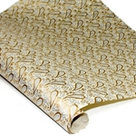 Screenprinted Indian Banana Leaf Paper - PAISLEY - TAN/GOLD/SILVER
