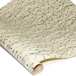 Screenprinted Indian Banana Leaf Paper - METALLIC VINES - TAN/GOLD/SILVER