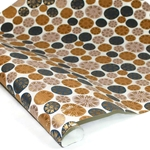 Metallic Screenprinted Indian Cotton Rag Paper - SEEDS - BLACK/BROWN/GOLD