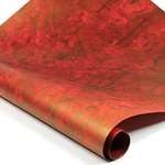 Metallic Indian Batik Cotton Rag Paper - CRINKLE - RED/GOLD