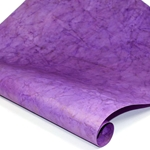 Metallic Indian Batik Cotton Rag Paper - CRINKLE - PURPLE/GOLD