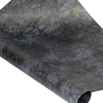 Metallic Indian Batik Cotton Rag Paper - CRINKLE -BLACK/SILVER