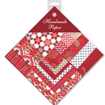 Handmade Indian Cotton Paper Pack - SMALL - RED, WHITE, GOLD