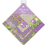 Handmade Indian Cotton Paper Pack - SMALL - PURPLE, GREEN, YELLOW