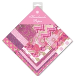 Handmade Indian Cotton Paper Pack - SMALL - PINK AND GOLD