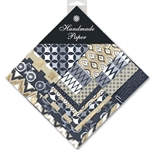 Handmade Indian Cotton Paper Pack - SMALL - BLACK, WHITE, GOLD