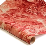 Marbled Nepalese Lokta Paper - RED/CREAM